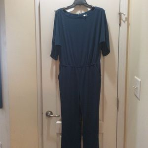 NY Collection Jumpsuit Blue